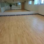 Maple floors after sanding