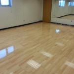 maple floor with finish