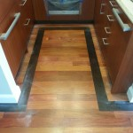 Walnut Border Hardwood Floor