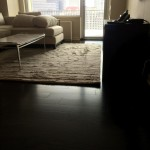 Prefinished Dark Stained Hardwood Floor Intallation