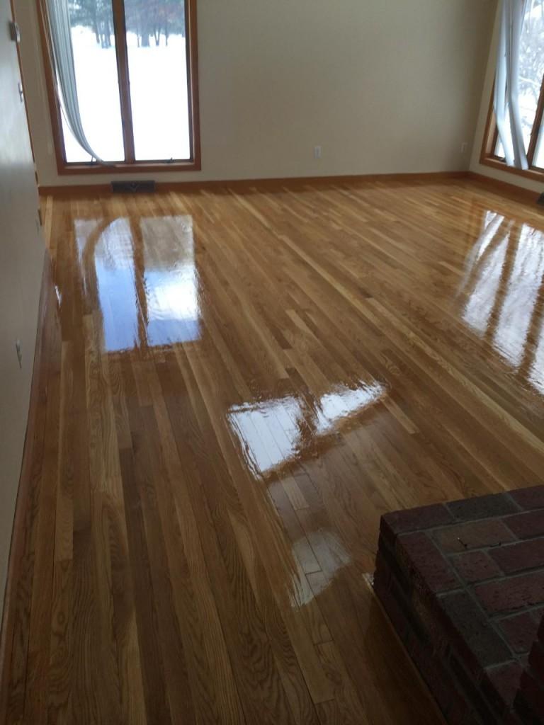Resanding White Oak Hardwood Floors in Weston, MA