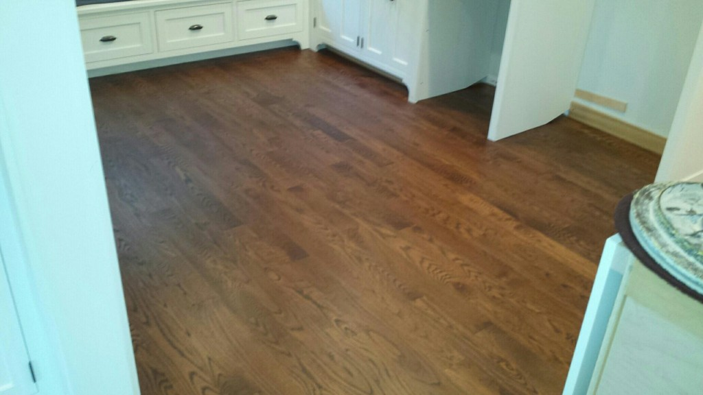 white oak floors with walnut stain