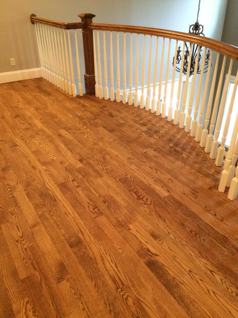 Red Oak hardwood floors with custom stain