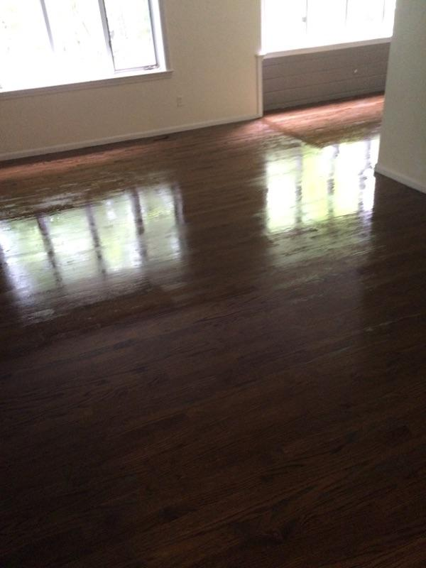 red oak floors with dark walnut stain