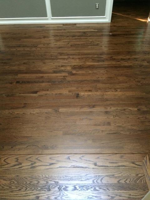 red oak floors with dark walnut stain