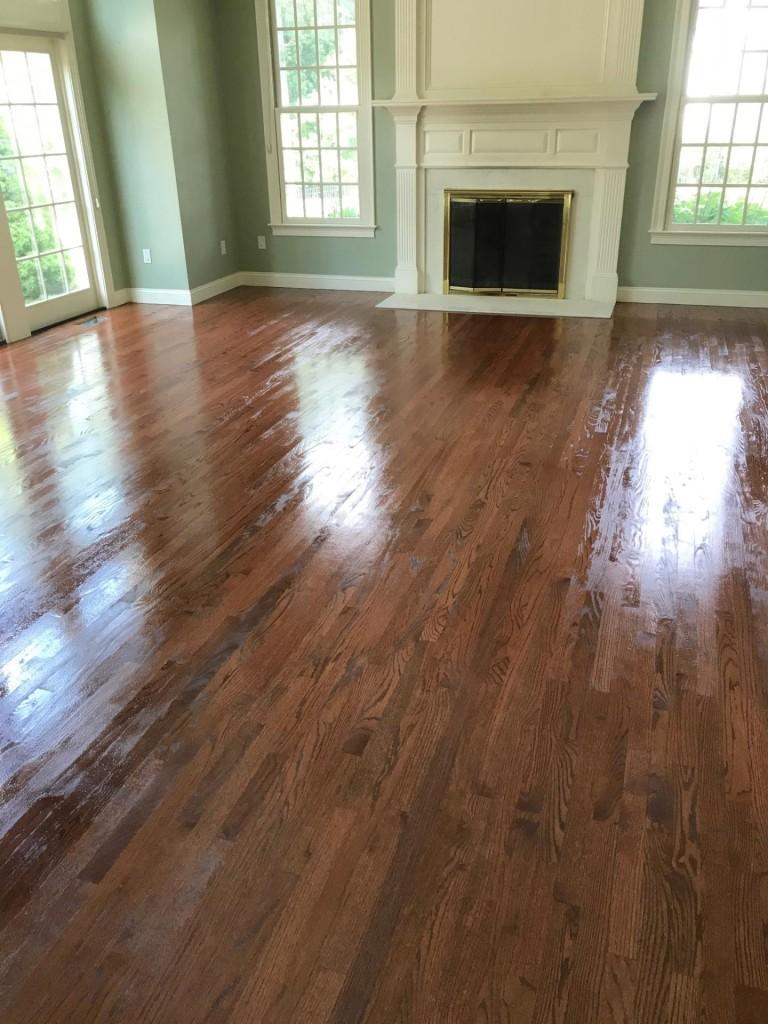 custom stain red oak