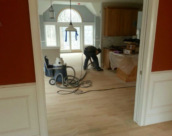 construction in natick home with oak floors
