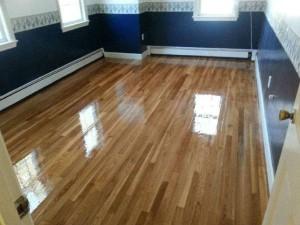 oak floor resanded