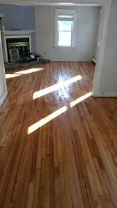 old maple hardwood floor refinished