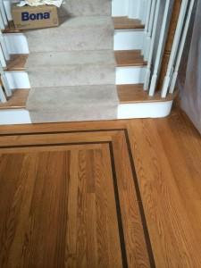 red oak floor installation