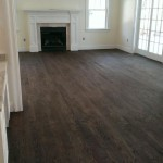 Red oak floors after stain