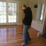 waterbase coating on hardwood floors