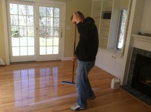 waterbase coating on hardwood floors