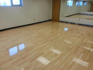 maple floor with finish