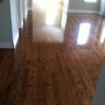 red oak floor after staining