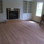 red oak floor before stain