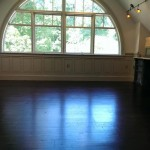 hardwood floors in open room