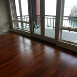 hardwood flooring in apartment
