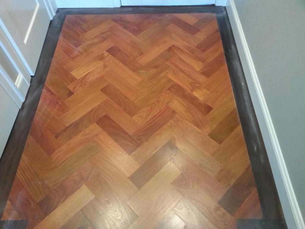 Custom Herringbone Pattern Hardwood Flooring