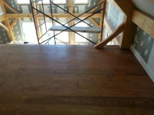 hardwood floor installation in new home