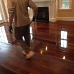 refinishing hardwood floors in living room