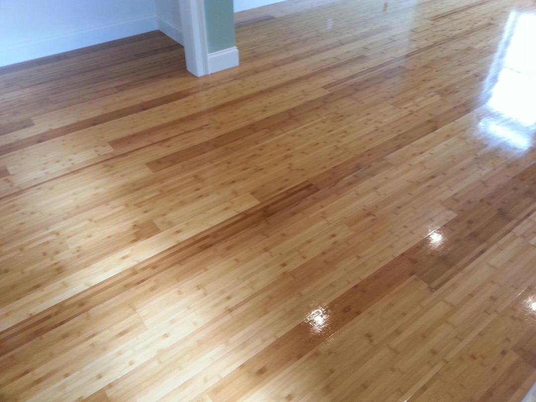 Sanded Refinished Bamboo Flooring In Watertown MA Central Mass - Bamboo floor scratches easily