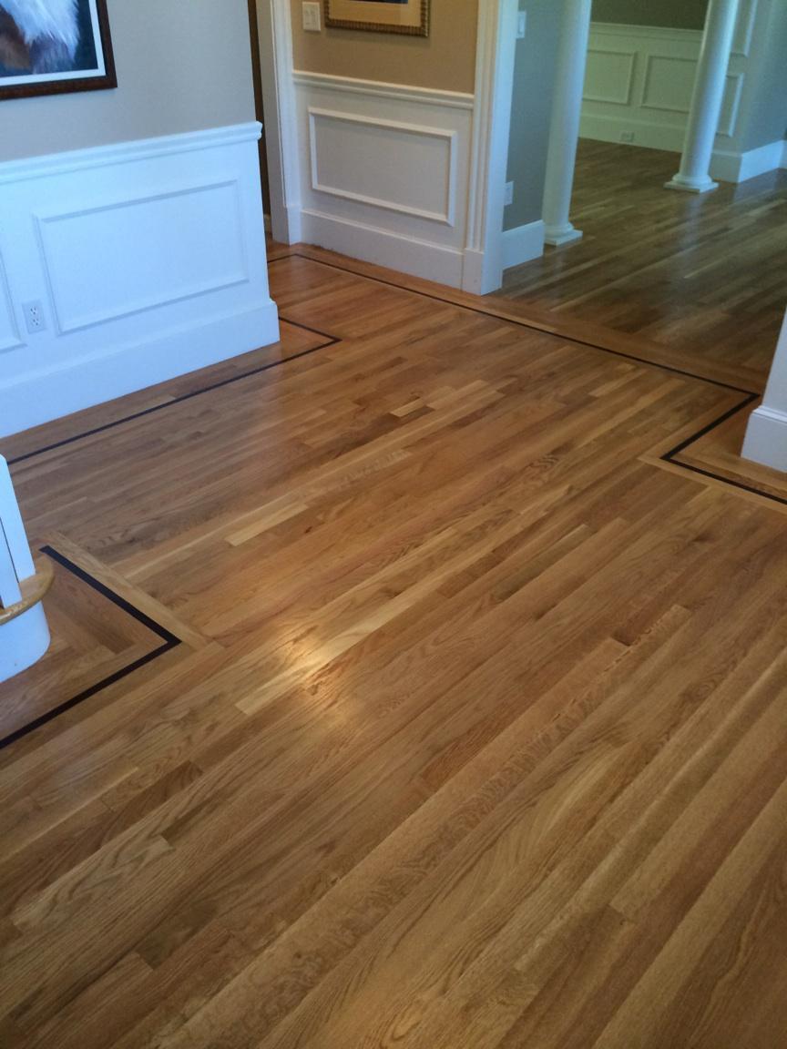 Resanding white oak hardwood flooring in shewsbury ma for Oak flooring company