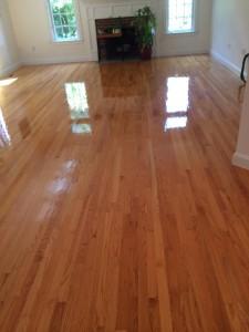 Recoated Floors in Wellesley