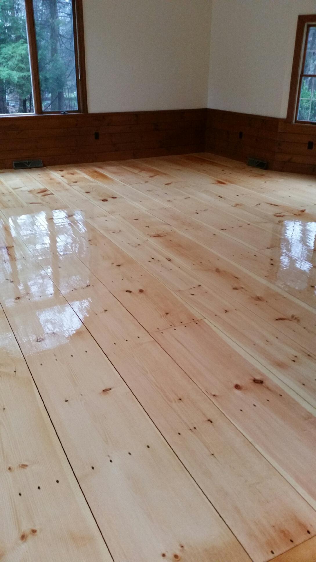 Eastern White Pine Hardwood Floors In Sudbury Ma