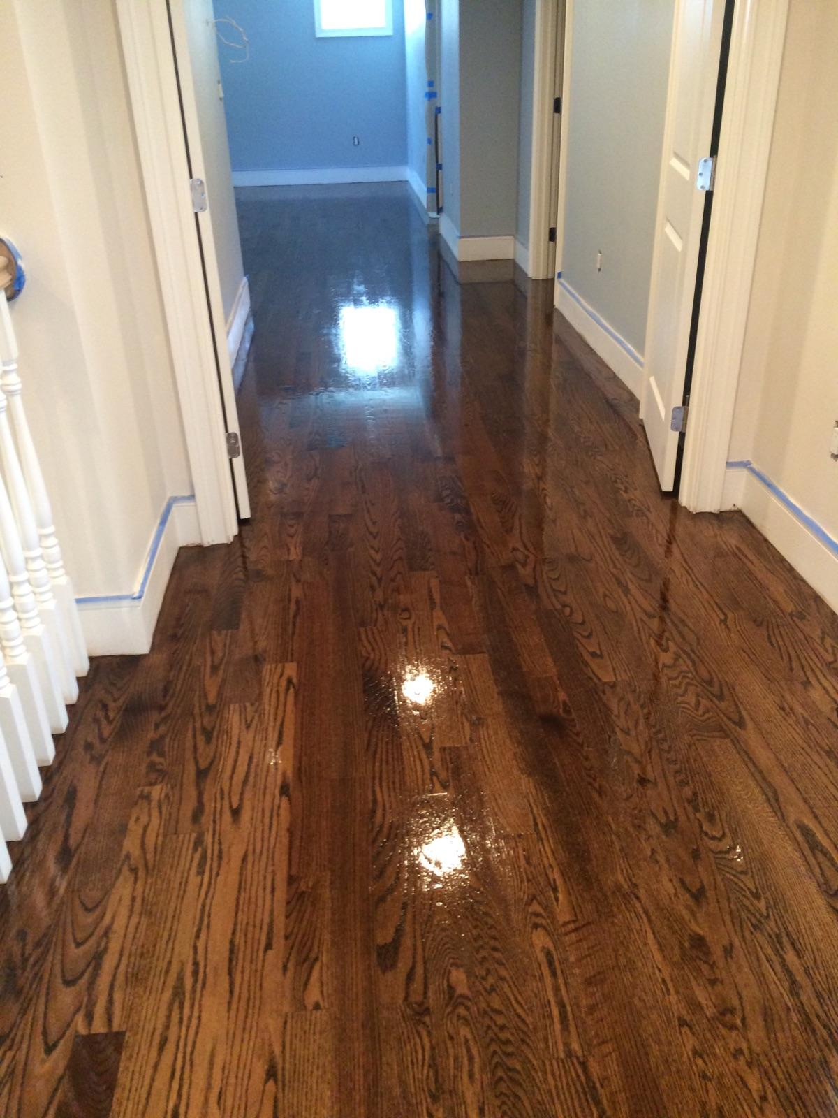 Antique Brown Stain Red Oak Floors Central Mass