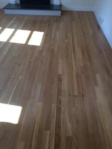 hardwood floors in renovated living room