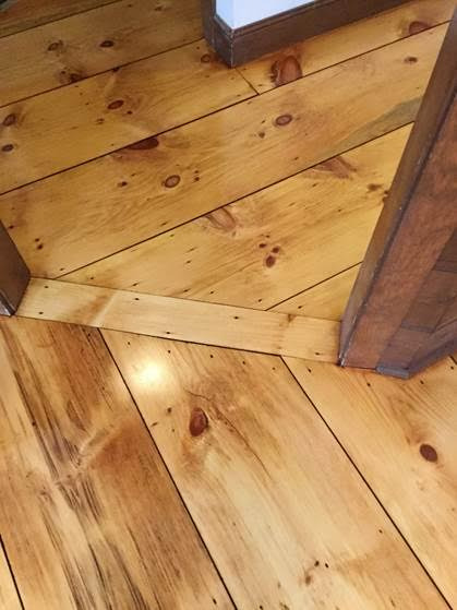 Before Amp After Eastern White Pine Hardwood Floors Central Mass Inc