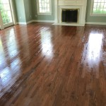 custom stain red oak