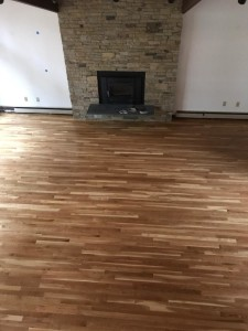 """2"""" white oak with oil based poly"""