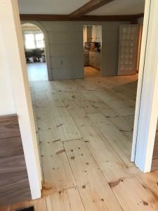 refinished white pine floors in Framingham