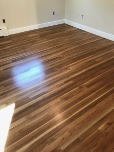 "2"" white oak floors with water based finish"