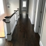 "3"" red oak floors with dark walnut stain"