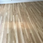 refinished floors with 4 coats of water base on white oak