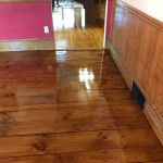eastern white pine with custom stain
