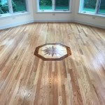 custom medallion on red oak hardwood floors