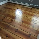 heart pine refinished with oil based poly flooring