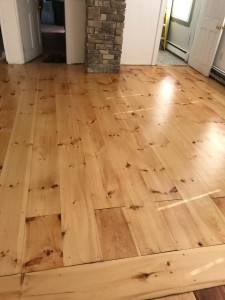 eastern white pine with oil based finish