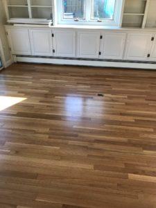White oak hardwood with oil finish
