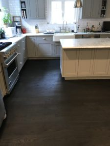 3-inch red oak finished with true black stain