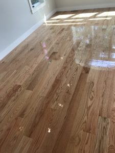4-inch red oak with high gloss finish