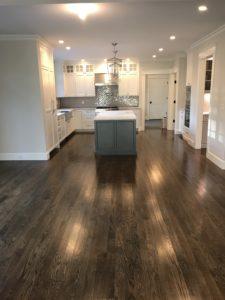 New construction- white oak flooring with dark walnut stain & oil based finish