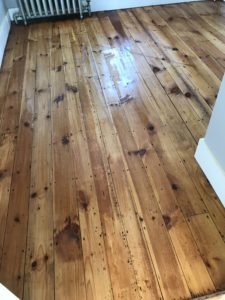Reclaimed pine with oil based polyurethane