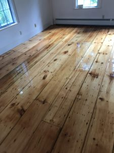 Reclaimed pine with oil based polyurethane finish