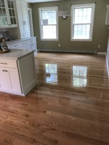 Red oak flooring finished with oil based polyurethane (2)