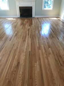 Red oak flooring installed with oil based polyurethane (3)